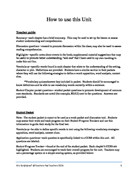 Middle School Novel Study (BUD, NOT BUDDY)--Common Core Aligned