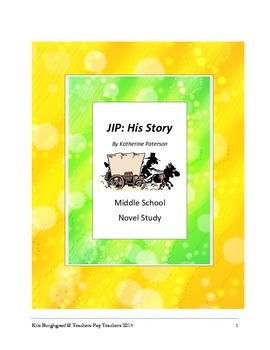 Middle School Novel Study (JIP: HIS STORY)---Common Core Aligned