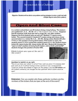 Middle School Open Math Problems Set 2