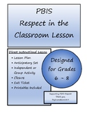 Middle School PBIS Respect Lesson Plan with Printable Worksheets