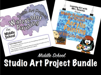 Middle School Painting Project Bundle