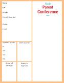 Middle School Parent/ Teacher Conference Form