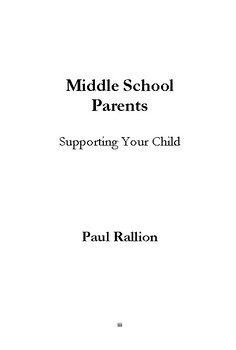 Middle School Parents, Supporting Your Child