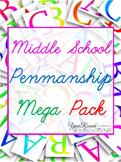 Middle School Penmanship Mega Pack