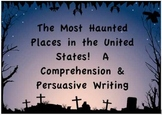 Middle School Persuasive Writing, Problem Solving & Vocab Most Haunted Places