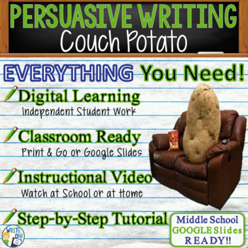 Persuasive Writing Lesson / Prompt – with Digital Resource – Couch Potato