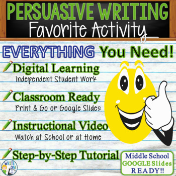 Persuasive Writing Lesson / Prompt – with Digital Resource – Favorite Activity