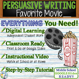 Persuasive Writing Lesson / Prompt – with Digital Resource