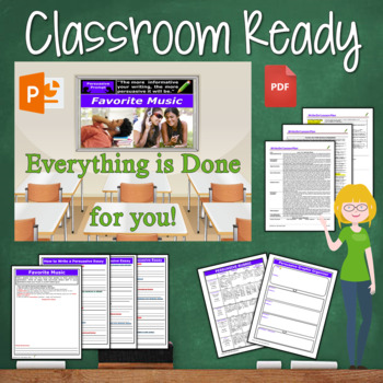 Persuasive Writing Lesson / Prompt – with Digital Resource – Favorite Music