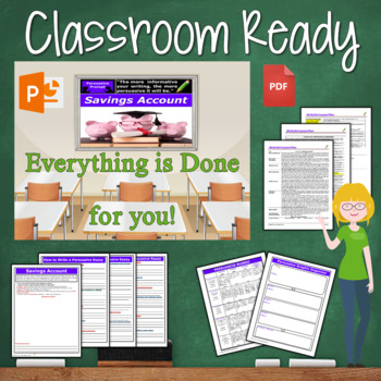 Persuasive Writing Lesson / Prompt – with Digital Resource – Savings Account