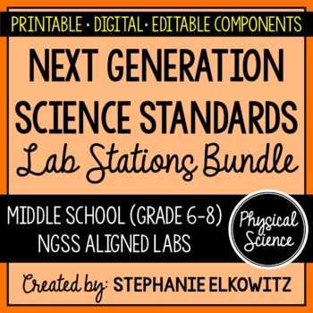 Middle School NGSS Physical Science Physics Lab Stations Bundle
