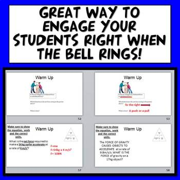 Middle School Physics Bell Ringers (Warm Ups)