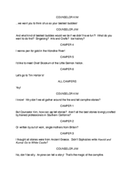 Middle School Drama Script: Stories from Camp Wannaleave