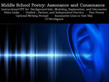 Middle School Poetry: Assonance and Consonance
