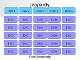 Middle School Poetry Jeopardy Review Game