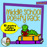 Middle School Poetry Pack (Grades 5-9) - NO PREP!