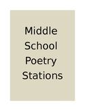 Middle School Poetry Stations