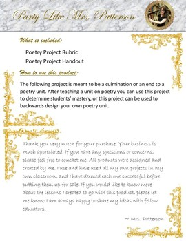 Middle School Poetry Unit Final Project