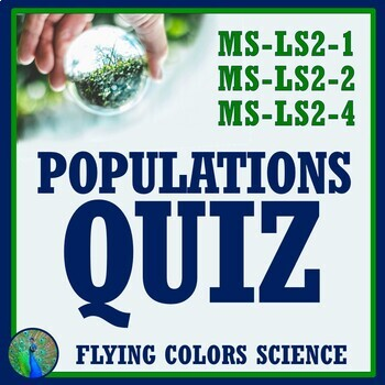 Populations Quiz - Limiting Factors + Carrying Capacity NGSS MS-LS2-1