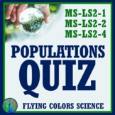 Populations Quiz - Limiting Factors + Carrying Capacity NGSS MS-LS2-1