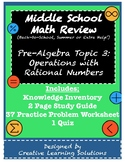 Middle School Pre-Algebra Review #3: Operations with Ratio