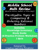 Middle School Pre-Algebra Review #4: Comparing & Ordering