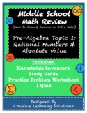 Middle School Pre-Algebra Review Topic 1: Rational Numbers