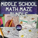 Middle School Math Activities Maze Pack