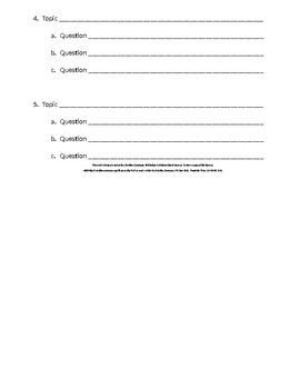 Expository Research Unit: Pre-Research Topic List Activity