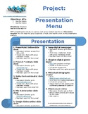 Expository Research Presentation Menu (could be used for any presentation)