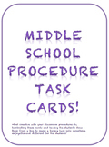 Middle School Procedure Task Cards