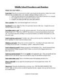 Middle School Procedures & Routines