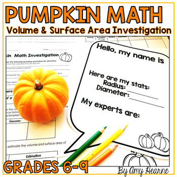 Pumpkin Math Group Activity: Volume and Surface Area