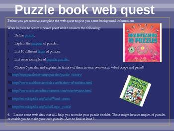 Middle School Puzzlebook Activity