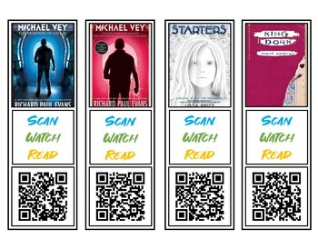 Middle School QR Code Bookmark Book Trailers Set #2