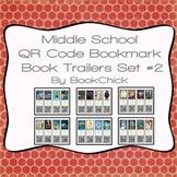 Middle School QR Code Bookmark Book Trailers Set #2