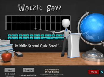 Middle School Quiz Bowl 1 (Full Version)
