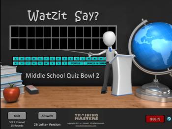 Middle School Quiz Bowl 2  (Full Version)