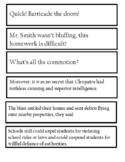Middle School RTI Fluency Strips #1