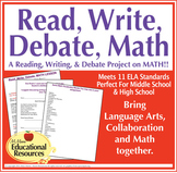 Math, Read, Write, Debate, Lesson {Editable} - Middle School, High School