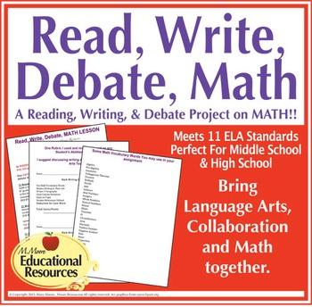 Math, Read, Write, Debate, Lesson {Editable} - Middle Scho
