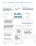 Middle School Reading Activities