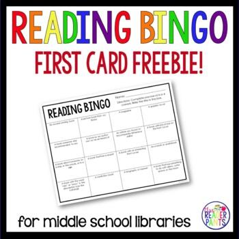 Middle School Reading Bingo--First Card Freebie