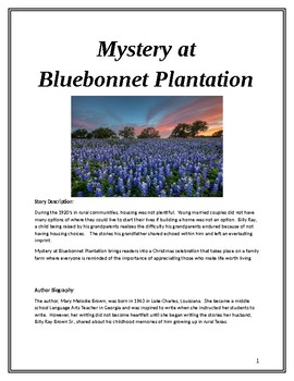 Middle School Reading Comprehension: Mystery at Bluebonnet Plantation