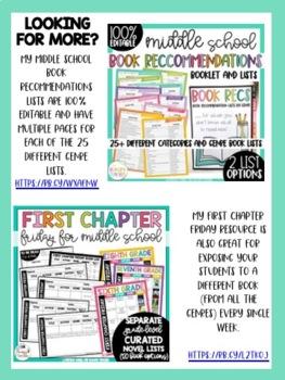 Middle School Reading Handout for Parents