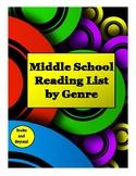 Middle School Reading List by Genre