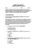 Middle School Reading / Literature Diagnostic Pre-Assessment