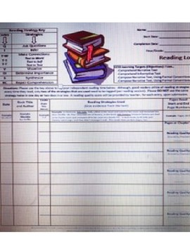 Middle School ELA Reading Log