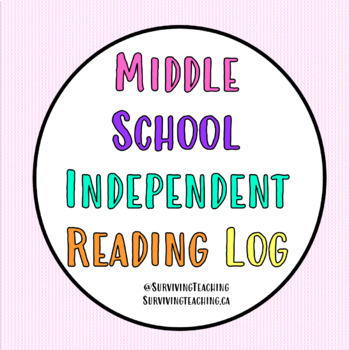 Middle School Reading Log