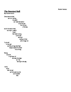 Middle School Reading: Onomatopoeia Poem Lesson